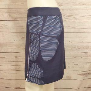 Adidas Athletic Tennis Skort Blue Floral Sz 2